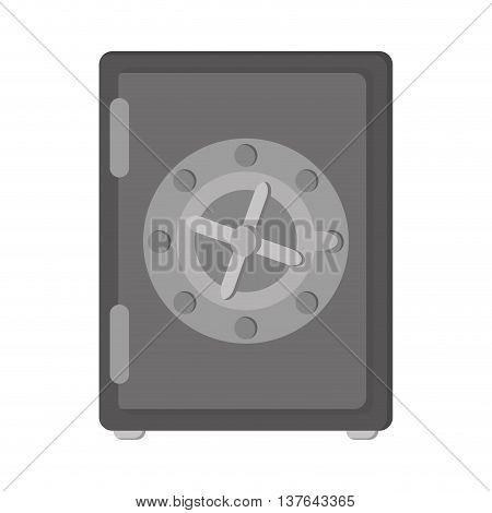 strongbox box security safe money , isolated vector illustration