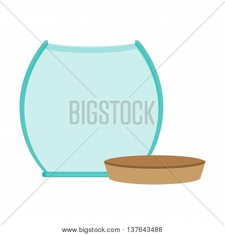 glass jar empty with cap icon , isolated vector illustration