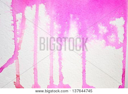 Beautiful abstract watercolor background for your design. Pink glamor fashion stains