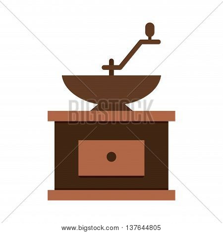 Grind machine coffee icon , isolated vector illustration