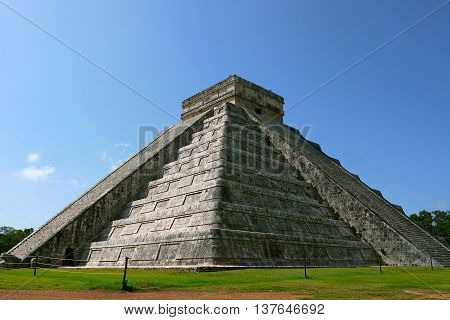 A beautiful view of Chichen Itza, MEXICO.