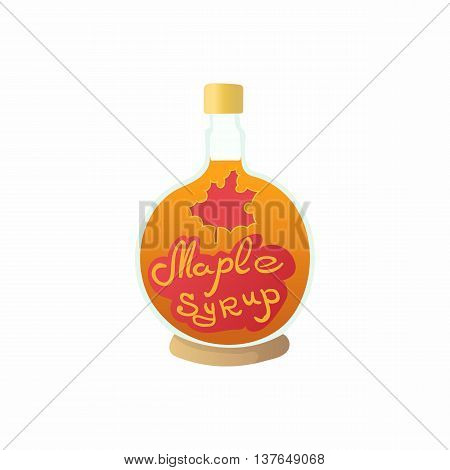Maple syrup icon in cartoon style isolated on white background. Cooking symbol