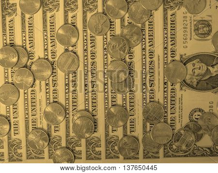 Dollar Coins And Notes - Vintage