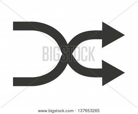 arrows cross isolated icon design, vector illustration  graphic