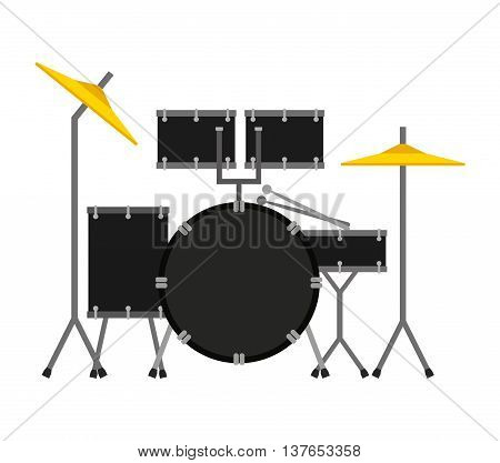 drums set isolated icon design, vector illustration  graphic