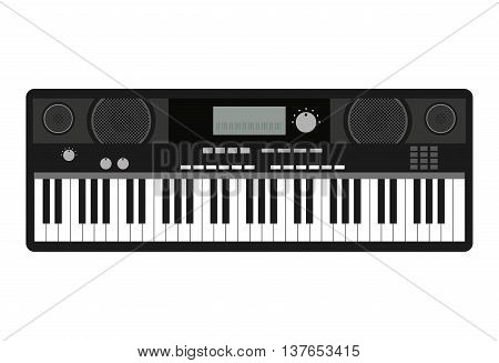 synthesizer isolated icon design, vector illustration  graphic