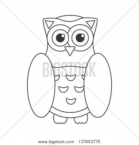 Owl bird flat icon, wisdom symbol isolated vector illustration