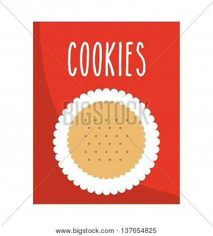 delicious cookies box isolated icon design, vector illustration  graphic