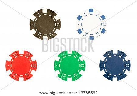 Five Poker Chips