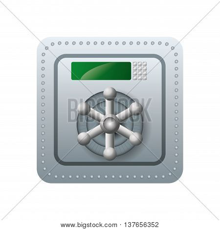 Security and protection concept represented by strongbox icon. Isolated and flat illustration