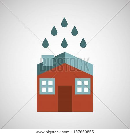 ensure protection insurance risk home isolated, vector illustration
