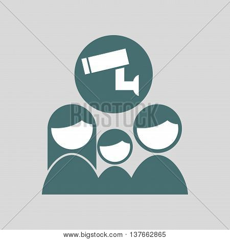 ensure protection insurance risk family isolated, vector illustration