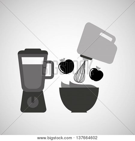 kitchen tools food Cookware isolated, vector illustration