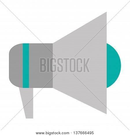 simple flat design megaphone icon vector illustration