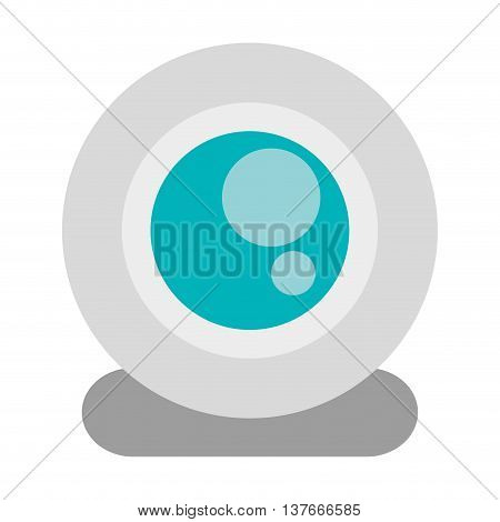 simple flat design single webcam icon vector illustration