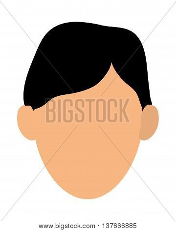 simple flat design faceless man portrait icon vector illustration