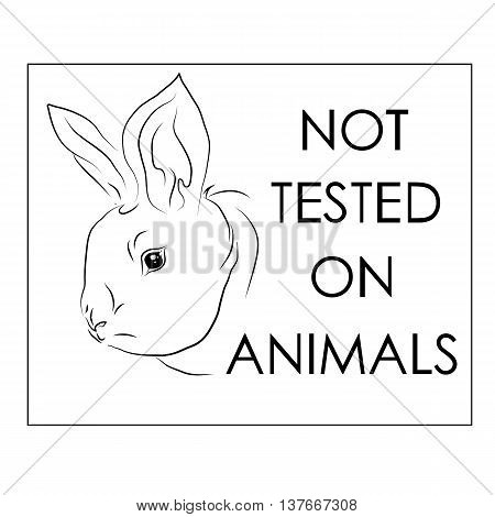 Card for the product in the store or other products with the creation of which has not been used in animal experiments