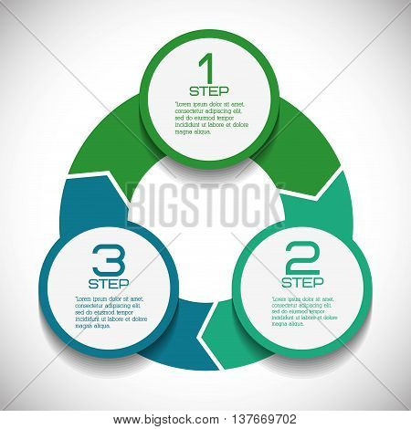 Data and steps represented by multicolored infographics labels icon. Colorfull and isolated illustration