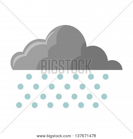 flat design cloud with rain icon vector illustration