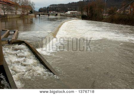 Weser River In Hamelin