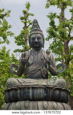 Seated Buddha, Sensoji Temple, Tokyo, Japan.for background