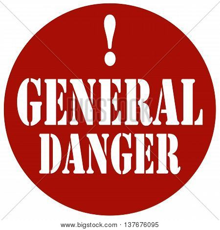 Red stamp with text General Danger,vector illustration
