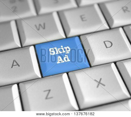 Skip ad computer key