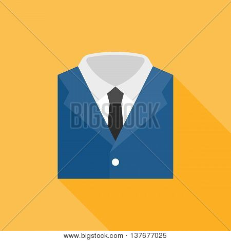 garb icon, flat design on yellow background