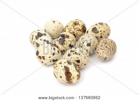 quail eggs food, fragile on white background
