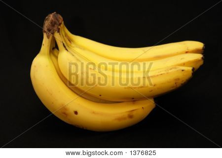 Bunch Of Bananas On Black