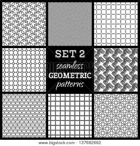 Set 2. Seamless Geometric Patterns.