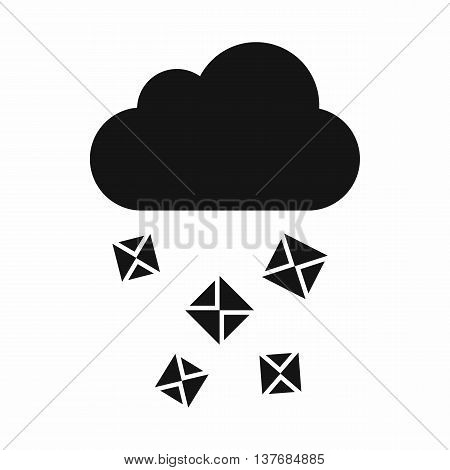 Cloud and hail icon in simple style isolated vector illustration