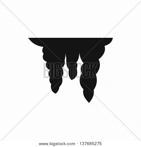Icicles icon in simple style isolated vector illustration