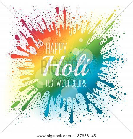 Holi festival poster background. Eps10 vector illustration