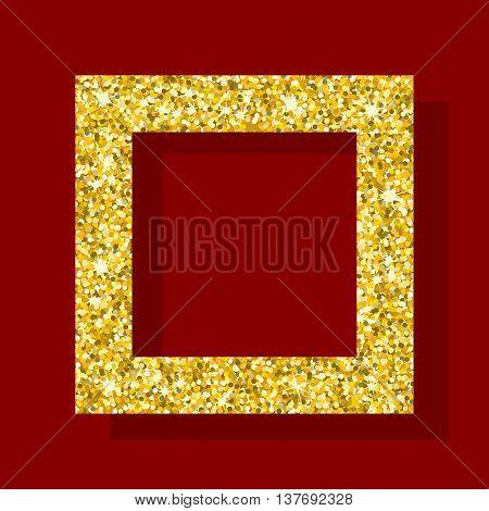 Golden Figure Square Frame