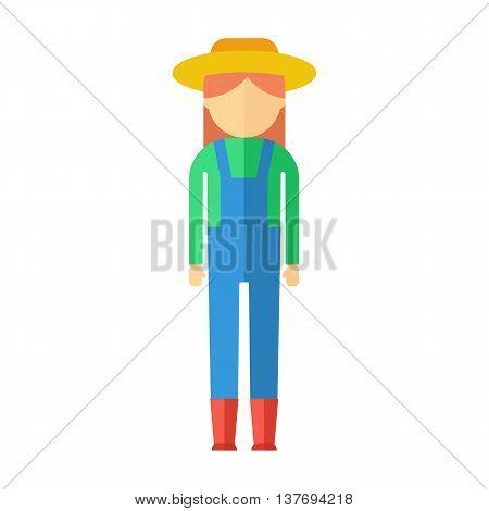 Farmer Woman Color Icon