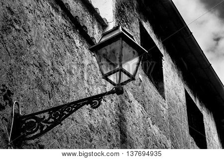 Streetlight in capital Rome ( Italy )