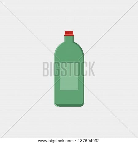 Vector Illustration Of Bottle With Engine Oil Isolated On White Background. Motor Oils Icon, Sign Or