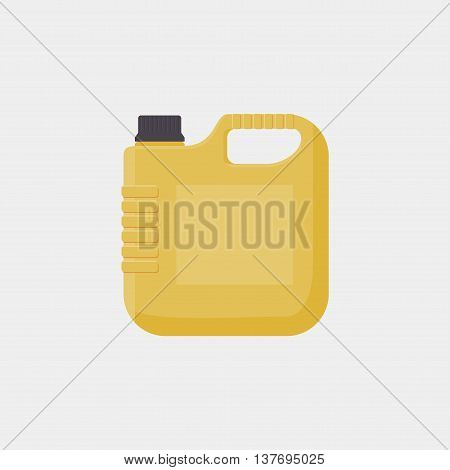Blank Jerrycan Canister Gallon Oil Cleanser Detergent Abstergent Isolated. Motor Oils Icon In Flat S