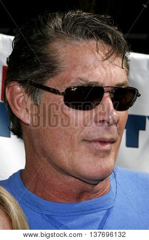 David Hasselhoff at the World premiere of 'Evan Almighty' held at the Universal Citywalk in Universal City, USA on June 10, 2007.