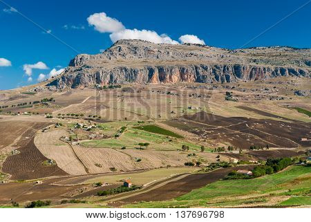 Rocca Busambra the highest mountain in the chain of Sicani (western Sicily)