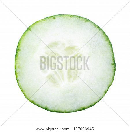 Cucumber Sliced Isolated On White