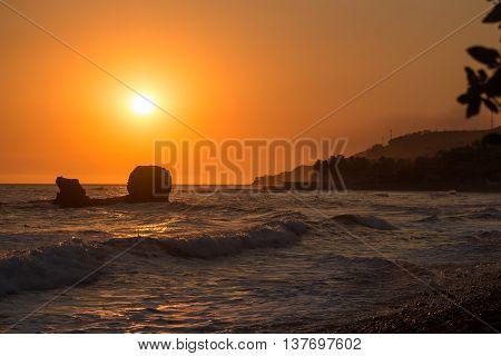 Sunset At Playa El Tunco, El Salvador