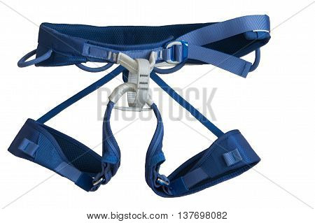 Isolated Harness For Safety Rock Climbing On White Background