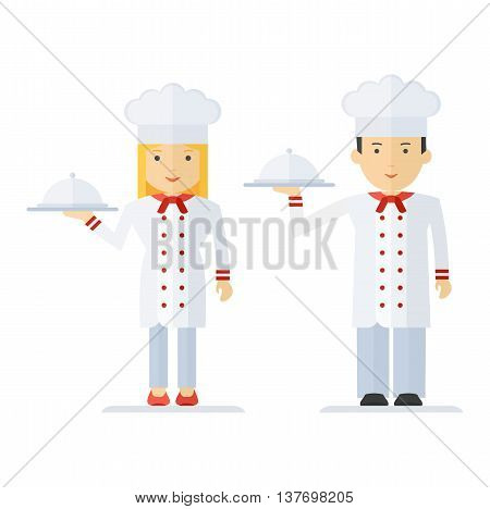 Profession Chef Cooking Man Woman