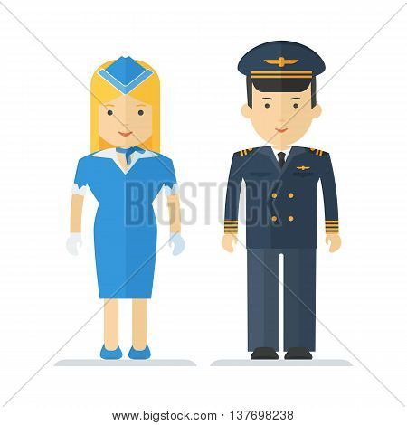 Profession Pilot And Stewardess