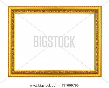 Frame elegant gold on a white background.