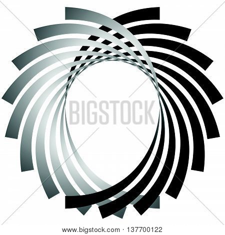Intersecting Circular Symmetric Lines. Abstract Geometric Element