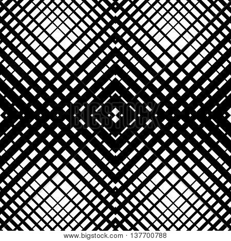 Mesh-grid Pattern With Crossing Diagonal Lines. Geometric Texture.