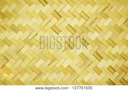 Weave mat woven from bamboo for background.